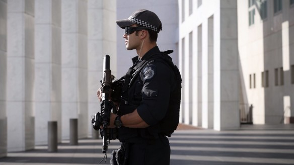 The AFP has urged the inquiry to give police officers greater powers to search individuals.