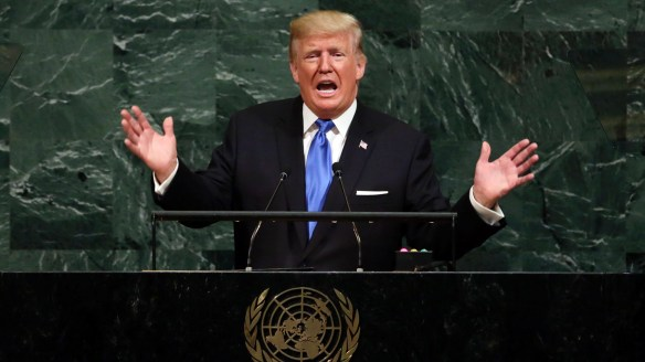 """""""Rocket man is on a suicide mission for himself and his regime"""": Trump addresses the UN."""