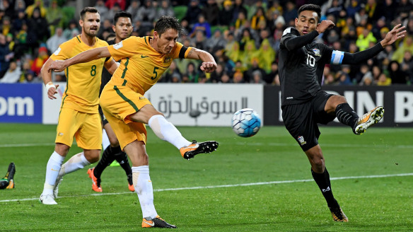 Pondering position: Mark Milligan is prepared to play where ever he is needed.