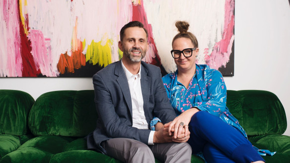 Artist Del Kathryn Barton and husband Chris Plater: 'absolutely the odd couple'