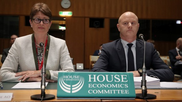 CBA chair Catherine Livingstone appeared alongside chief executive Ian Narev before the federal government's banking inquiry on Friday, facing questions about the explosive money laundering allegations levelled against the bank.