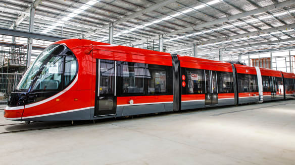 Canberra light rail: One tram a week to start arriving from end of March
