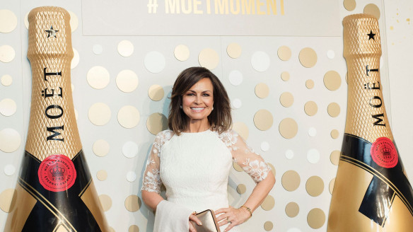 Celebrating in style: Lisa Wilkinson steps out to her first public appearance for Moët & Chandon after quitting Nine at the Opera House on Friday.