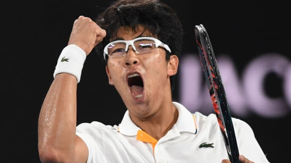 Hyeon Chung enjoys the biggest upset of his career.