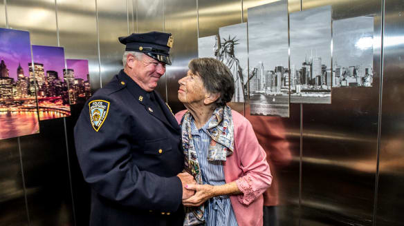 'Best day of my life': Why a New York cop made a special visit to this Canberra nursing home