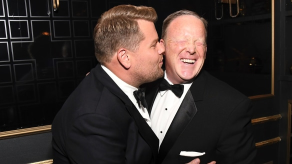 James Corden apologises for 'ass-kissing' Sean Spicer at the Emmys