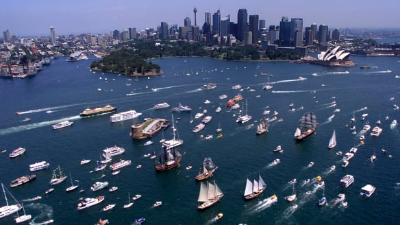 """The day has evolved from a low-key commemoration to a gaudy flag-waving celebration of all things """"Aussie"""" replete with fireworks, huge public events, and countless parties, not to mention tall ships races."""