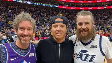 All that (Utah) Jazz: Scott Farquhar, Qualtrics founder Ryan Smith and Mike Cannon-Brookes.
