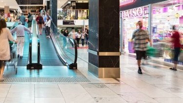 The Macquarie Centre shopping mall, in north-west Sydney, is one of a handful of assets in the $4.5 billion AMP Capital Diversified Property Fund.