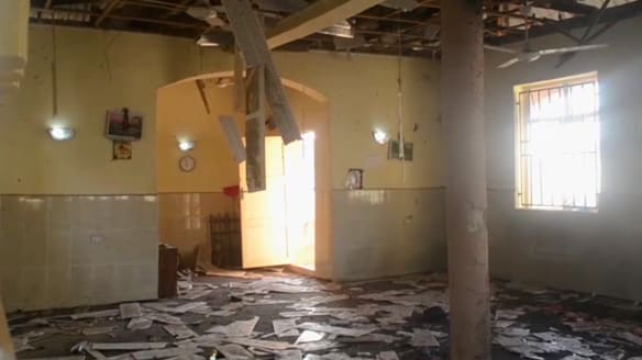 The interior of a mosque after a deadly attack by a suicide bomber, in Mubi, Adamawa State, Nigeria.