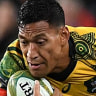 Hiatus: Folau was again at his best during the drought-breaking win over the All Blacks.