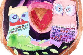 Meagan Pelham has drawn thousands of owls for her art works.