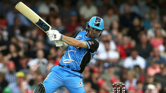 Travis Head guides Adelaide to victory over the Renegades Monday night.