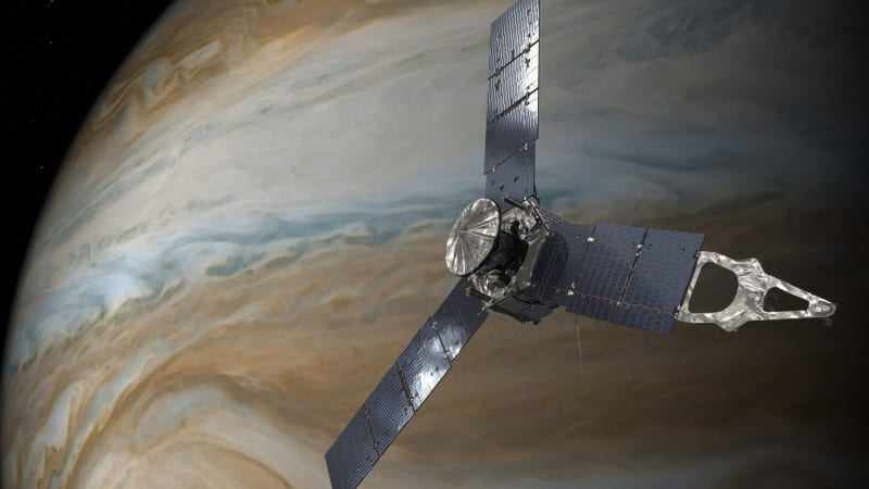 NASA spacecraft in humankind's closest encounter with Jupiter's great red storm