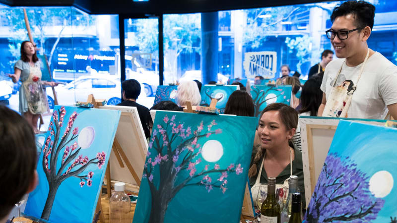 Art classes in Sydney: Cork & Chroma's paint-and-sip sessions