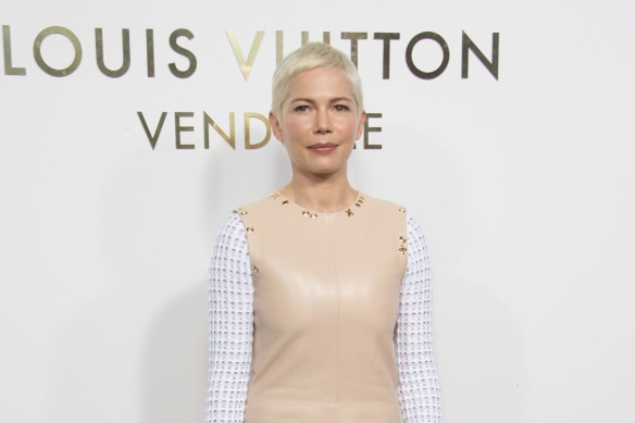 Michelle Williams at the opening of the new Louis Vuitton boutique in Paris on October 2.