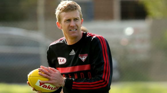 Double-take at Essendon as another Fletcher hits the training track
