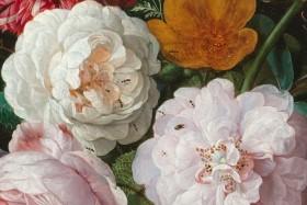 Jan Davidsz de Heem's Still life with flowers in a glass vase.
