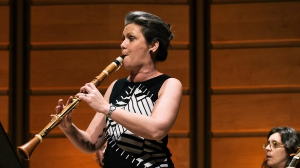 Nicole van Bruggen thrilled with her velvety tone on the basset clarinet.
