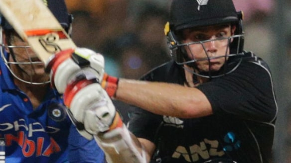 Tom Latham helped steer New Zealand to victory.