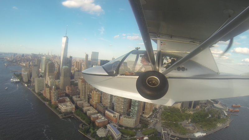 Flying solo around the world in sea plane lands Melbourne