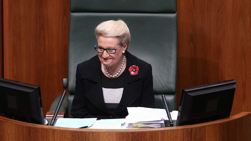 Bronwyn Bishop is still Speaker and on the Speaker's $341,000 salary