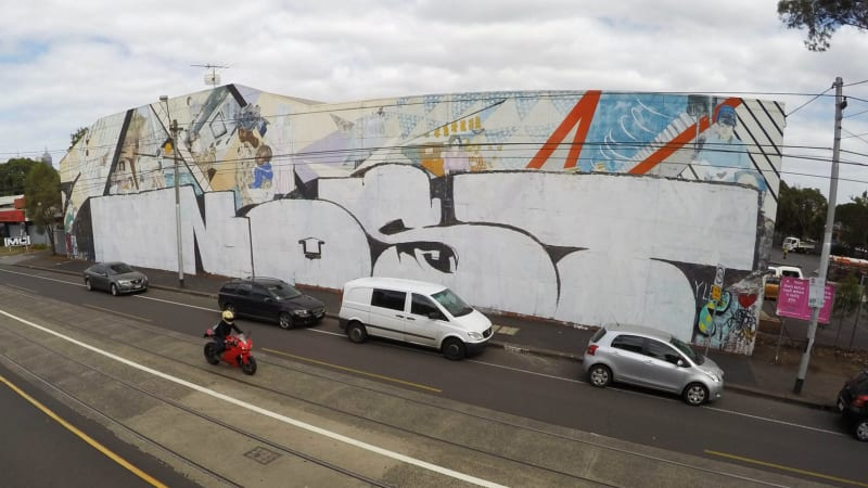Graffiti tagger destroys historical Smith Street feminist mural