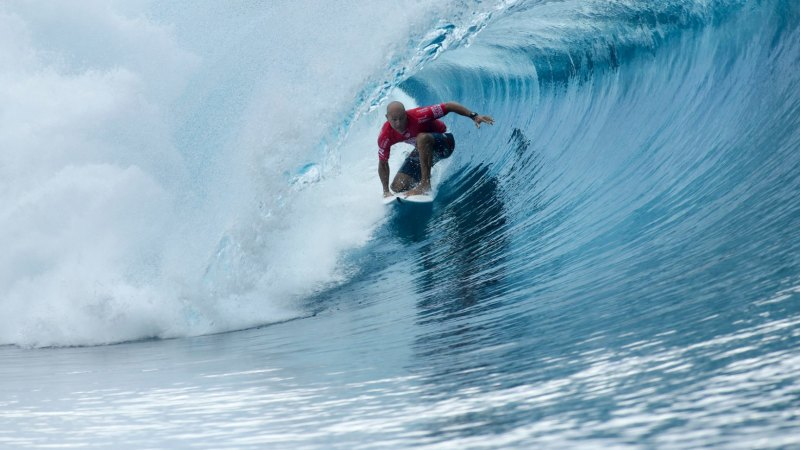 31d2907115 US surfer Kelly Slater scores a perfect heat in the 2016 Billabong Pro  Tahiti