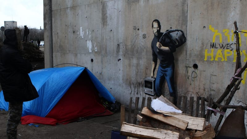 Banksy mural of Steve Jobs in Calais migrant camp to be protected