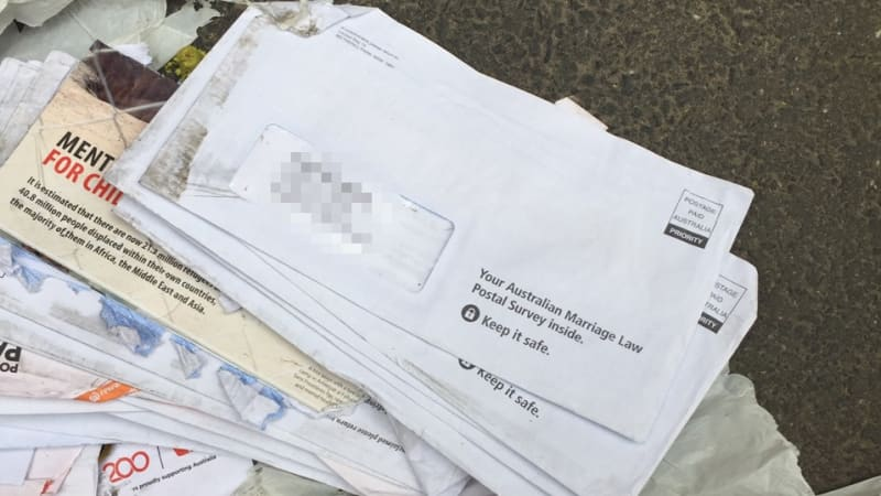 Second pile of same-sex marriage surveys found dumped in Melbourne laneway