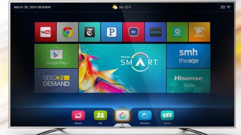 Smart TVs: LG running webOS v Hisense running Android