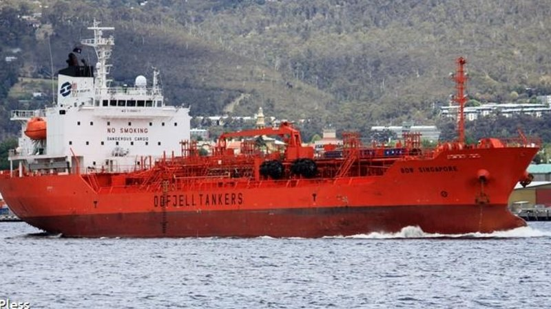 Massive oil tanker Bow Singapore removed after running aground off