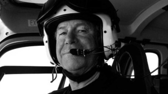 David Wood was a helicopter pilot in Antarctica.