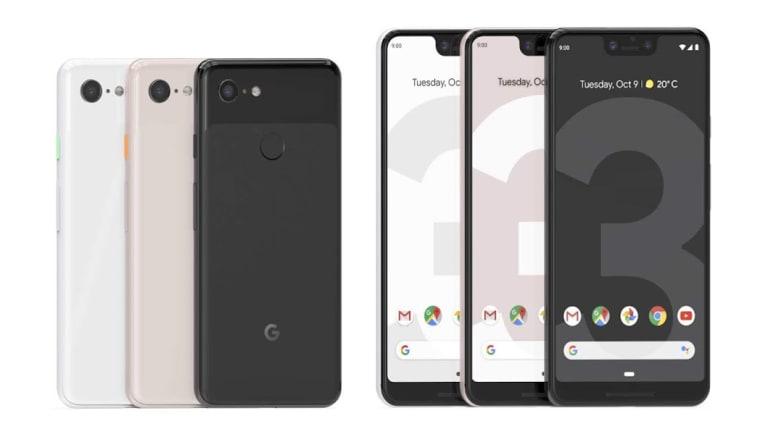 The Google Pixel 3 and Google Pixel 3 XL.