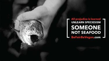 A vegan ad campaign: Be Fair Be Vegan.