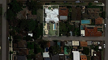 An aerial photograph of David Leyonhjelm's property.
