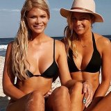 Megan Marx (left) with her ex-girlfriend, Tiffany Scanlon, whom she met on The Bachelor.