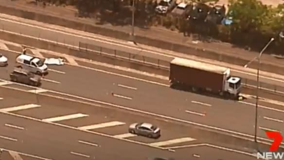 Woman killed by truck on Ipswich Motorway in Brisbane's south