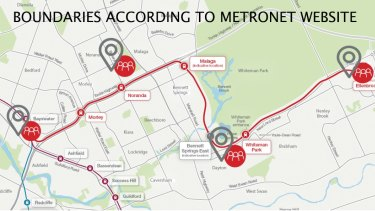 Boundaries according to the Metronet website.