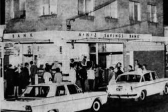 The outside of the ANZ branch involved in the robbery.