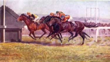 Wolaroi runs second in the AJC Craven Plate earlier in 1918.
