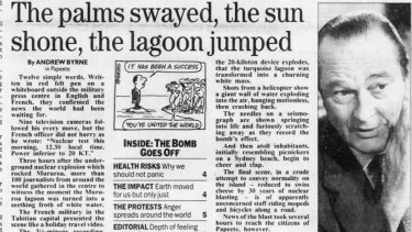 Sydney Morning Herald page 1, 7 September 1995,