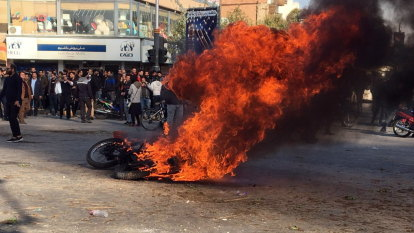 Iran's top leader warns of 'thugs' as petrol protests touch 100 cities