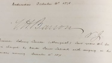 Prison notes showing John Lennon charged with singing in his St Helena Island prison cell on December 14,   1871.