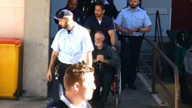 Gary Murphy is moved from Prince of Wales Hospital to Long Bay on Thursday