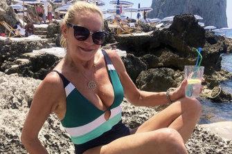 Skye Leckie in Capri.