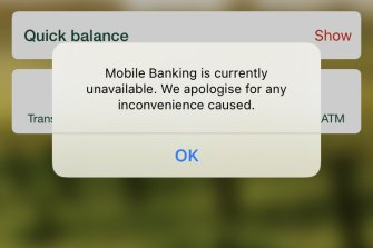 Millions of Australians were unable to access internet banking for around an hour on Thursday due to a major technology glitch.
