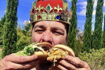 Hamburger connoisseur Bruno Bouchet.
