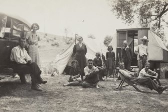 A family camping trip to Tambo River, Victoria, in December 1938.