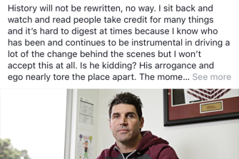 No holding back: Part of the now-deleted Facebook post by Kristie Fulton.